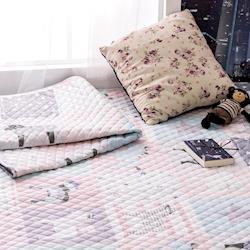北歐全棉布藝絎縫墊可機洗手洗防滑床墊地墊地毯110x110cm