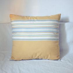【協貿】百搭簡約現代黃色大條紋沙發方形抱枕含芯