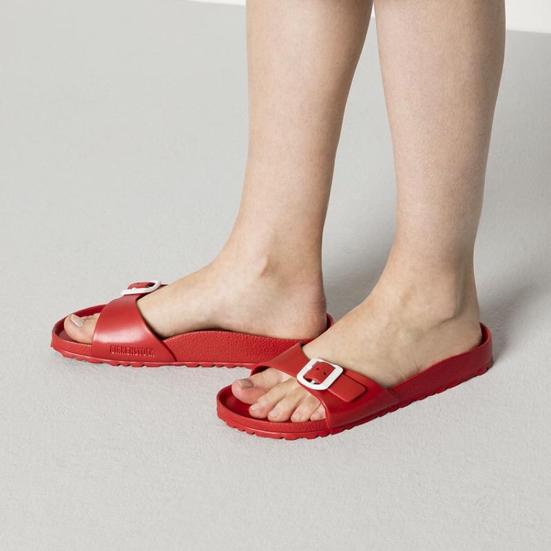 德國 BIRKENSTOCK 勃肯 ㄧ體成型 EVa 防水單版拖鞋- 紅色