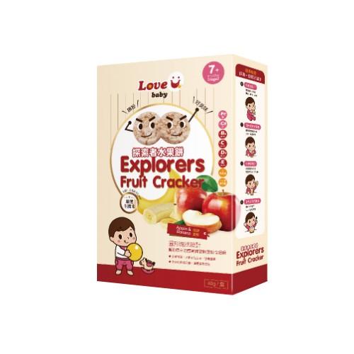 米大師 - 探索者水果餅-蘋果香蕉-淨重40公克/盒
