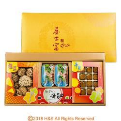 瀚軒 屋士富禮盒(上等花菇100g+上等干貝1盒+上等昆布1盒+上等鱈魚肝2盒)