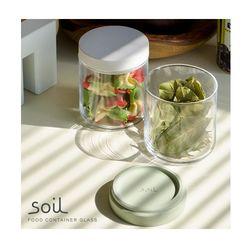 日本 soil 圓形玻璃食材罐 (共三色)-行動