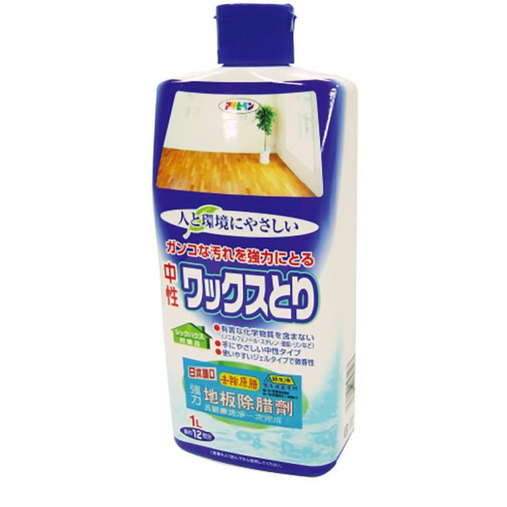 日本Asahipen強力地板除蠟/去污保養劑1000ml 清潔 保養 不傷地板 同時去汙