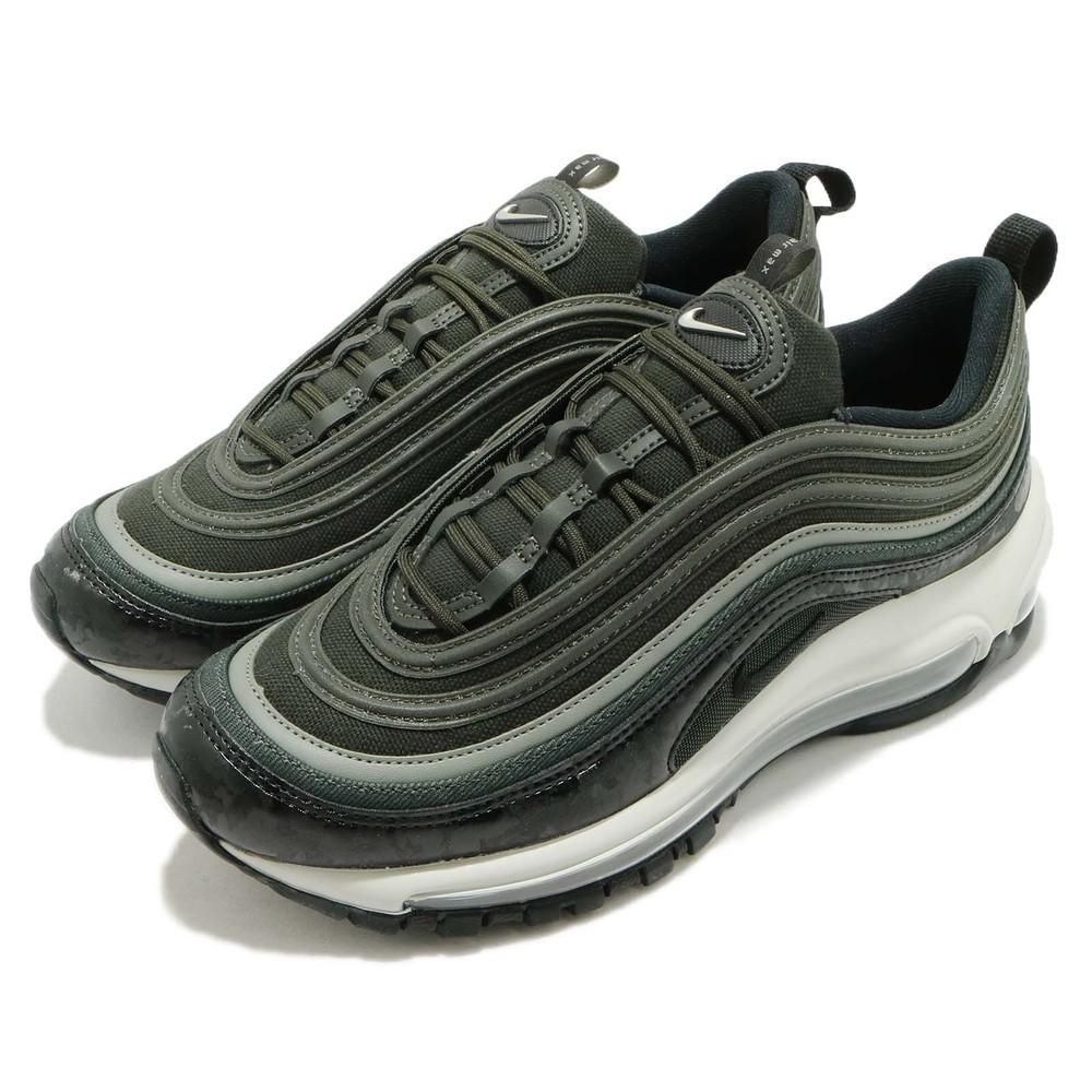 【Footwear Corner 鞋角】Nike Air Max 97 Premium 深墨綠 紋路型號:917646-300 版型正常腳板寬者,建議拿大半號較為舒適【下標前請先聊聊詢問尺寸是否還有貨