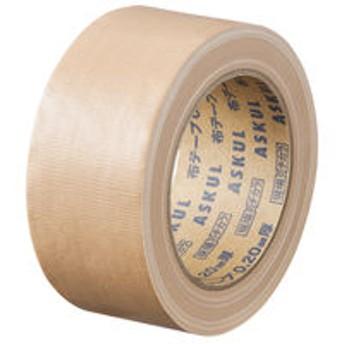 アスクル「現場のチカラ」 布テープ 0.20mm厚 幅50mm×長さ25m巻 茶 1巻