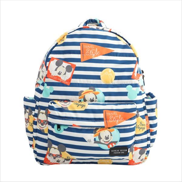 天藍小舖-迪士尼系列米奇條紋保冷多功能後背包/媽媽包-單1款-2680元【A12121410】
