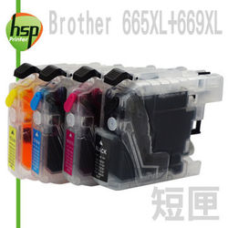 Brother LC669+LC665 短滿匣+晶片 四色 填充式墨水匣 MFC-J2720