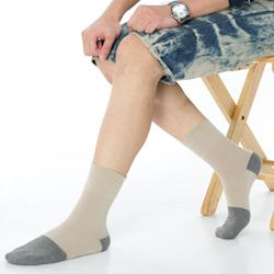 【KEROPPA】可諾帕竹炭無痕寬口襪(男女適用)x綜合6雙C90004-A
