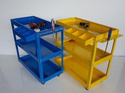 【瑪太】A310最好推 汽車美容工具車櫃+掛板+零件盒 厚0.65mm 三層小推車零件車 工具手推車 多功能手推車