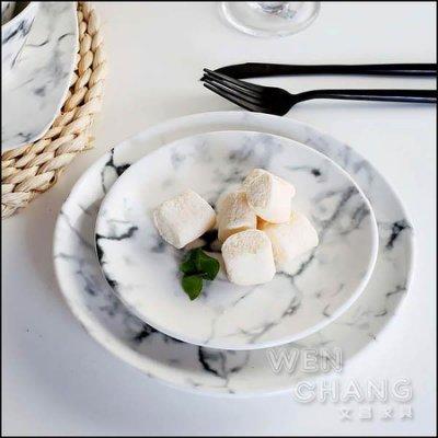 大理石紋系列餐具15.5CM甜點盤 Z080-C *文昌家具*