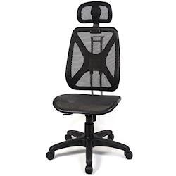 【aaronation】愛倫國度 - 機能性椅背 - 辦公/電腦網椅(DW-105H無手有枕)