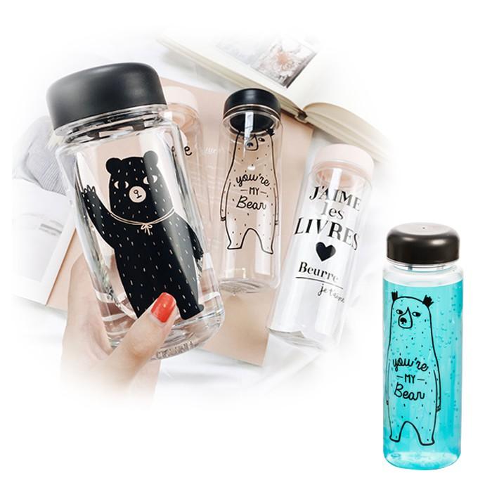 萌系小清新超寬瓶口隨身玻璃瓶/隨身杯/水壺