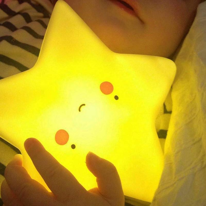 母嬰 童 INS爆款小夜燈 嬰兒房裝飾燈 嬰兒安撫工具小夜燈 嬰幼兒用品 五角星月亮雲朵床頭燈