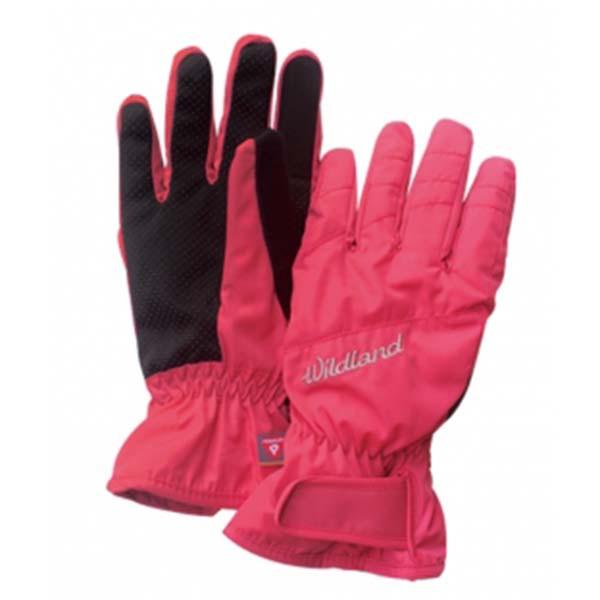 WILDLAND W2003-78 女PR棉防水防風觸控手套 粉橘色《台南悠活運動家》