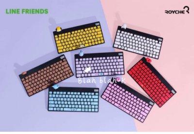 BT21 x Royche 無線鍵盤 電腦鍵盤 3c電腦周邊配件 鍵盤 公仔角色鍵盤