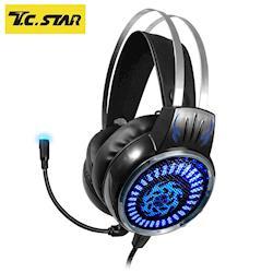 T.C.STAR 街頭霸王GAMING電競玩家頭戴式耳機麥克風 TCE9400BK