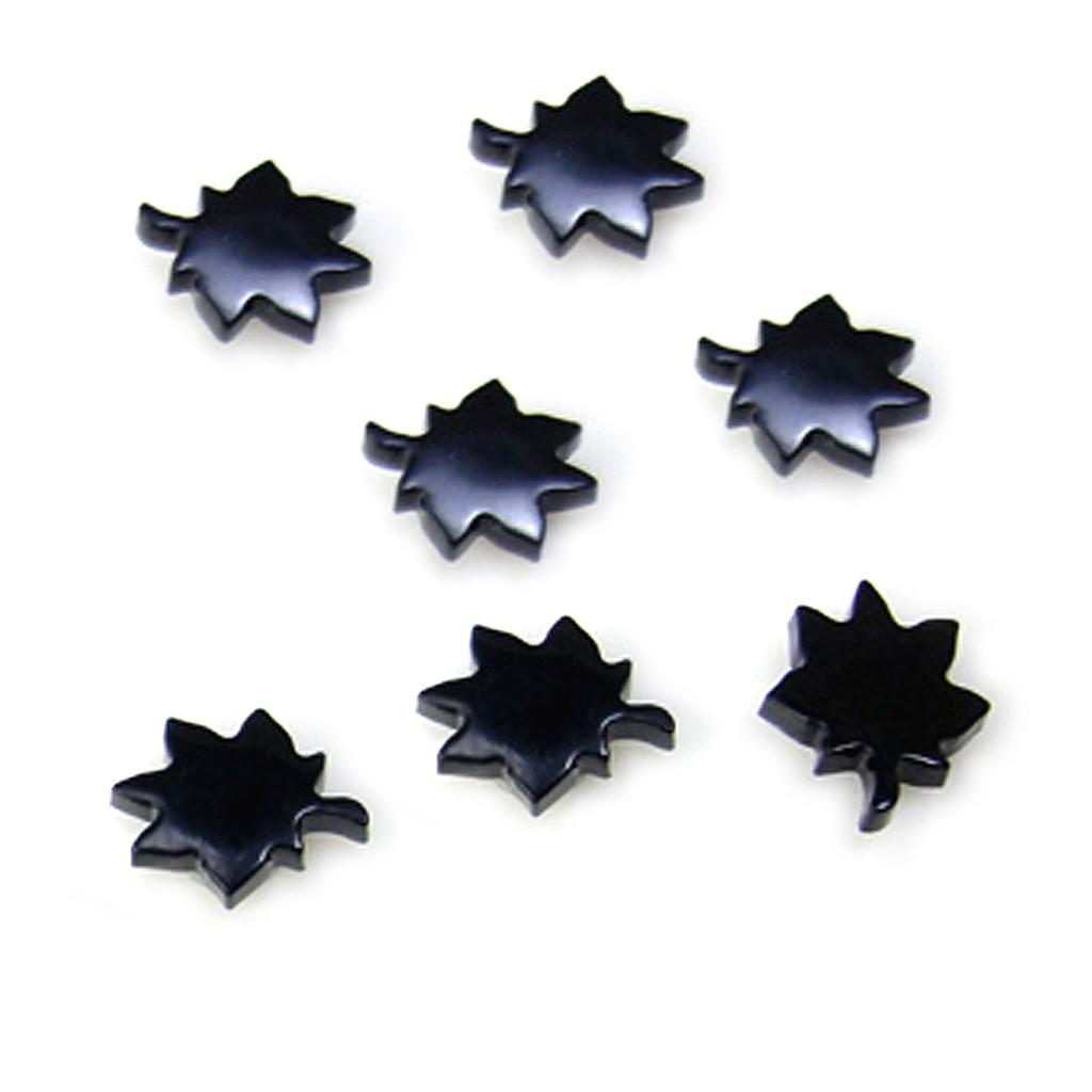 黑色楓葉 磁石 無耳洞耳環 不用耳洞 艾豆『B2226』