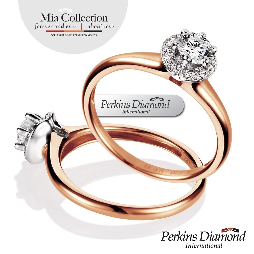 PERKINS 伯金仕 - GIA Mia玫瑰金系列 0.30克拉鑽石戒指
