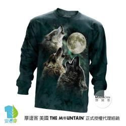 『摩達客』(預購)美國進口The Mountain 三狼嚎月 純棉長袖T恤