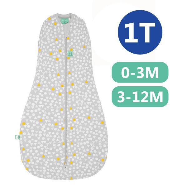 【麗兒采家】ergoPouch 二合一竹纖有機舒眠包巾1T(春.秋款)(0~3M/3-12M) 懶人包巾-雪寶灰