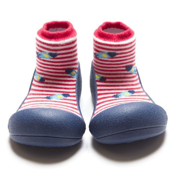 韓國 Attipas 快樂腳襪型學步鞋- 藍底飛碟【麗兒采家】