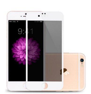 【白色滿版防窺鋼化膜】Iphone6S plus Iphone 6 plus 5.5吋 防窺 防窺膜 防偷窺 鋼化玻璃膜