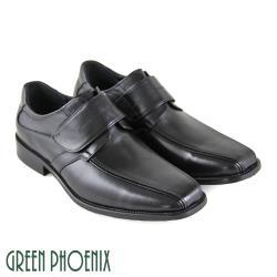 GREEN PHOENIX 簡約線條感沾黏式全真皮皮鞋(男鞋)T63-18962