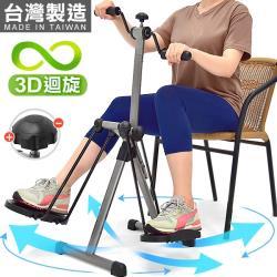 台灣製造!!兩用3D迴旋滑步機