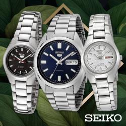 SEIKO精工 精工5號夜光自動上鍊機械男/女錶(多款可選)
