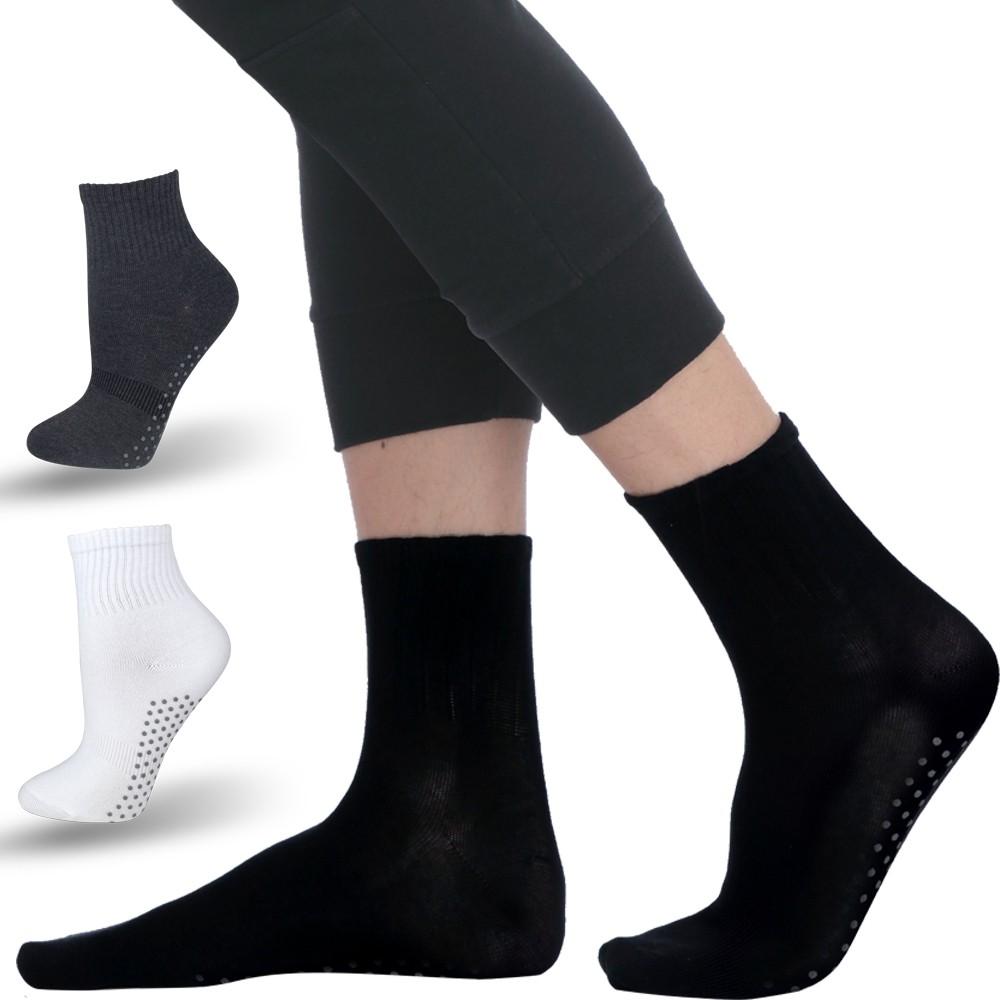 【LIGHT & DARK】樂齡MIT腳底按摩中性止滑襪