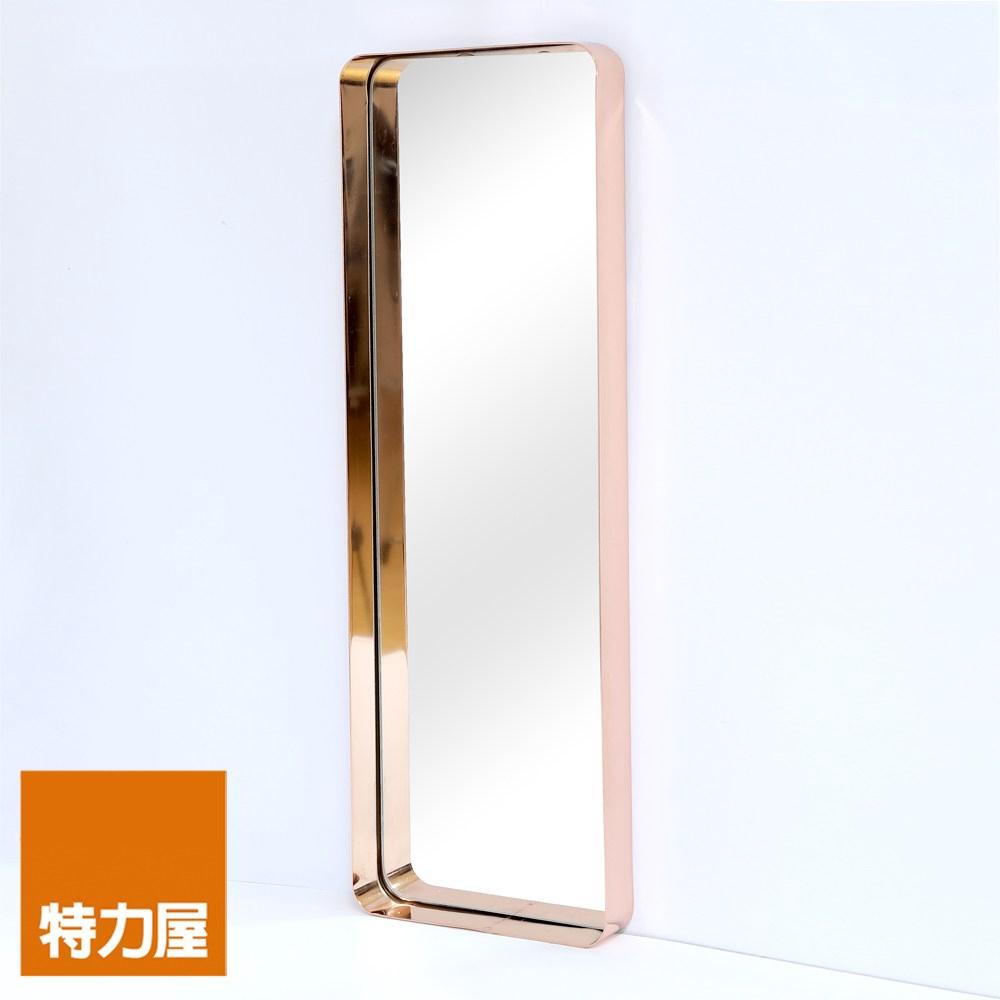 特力屋 摩登框鏡 長方形80x20cm 玫瑰金 FMW-831CR-RG