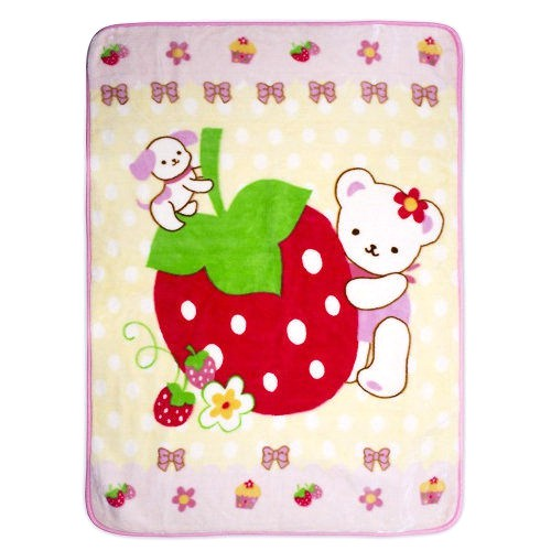 Baby City 點點草莓熊盒裝童毯