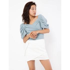 ロングスカート - CECIL McBEE サイドZIPラップ風スカート
