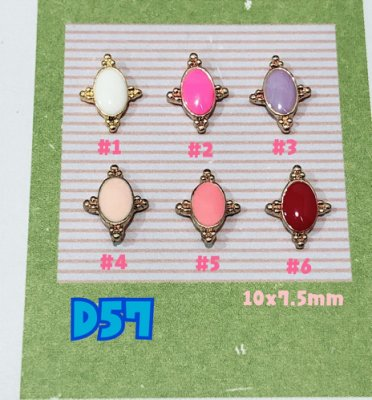 【指甲樂園nails】美甲光療水晶彩繪 手機貼鑽 日系糖果色 金飾品 單顆入『D57』