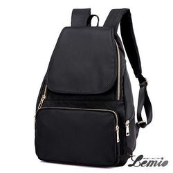 【Lemio】韓版牛津布純色設計後背包