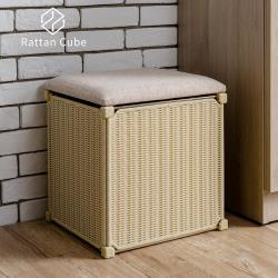 藤立方 組合收納椅凳-DIY