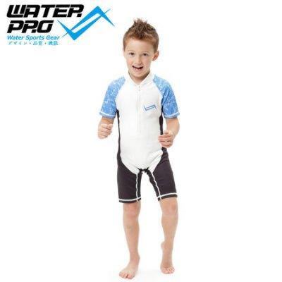 【Water Pro水上運動用品】{香港Water Pro}-1mm 兒童 絨布底 前拉鏈式 水母衣 防曬衣 游泳 戲水
