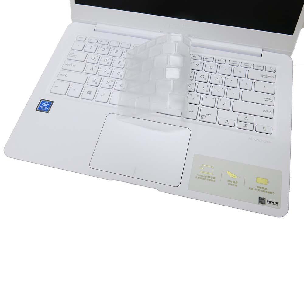 【Ezstick】ASUS E406 E406MA 奈米銀抗菌TPU 鍵盤保護膜 鍵盤膜