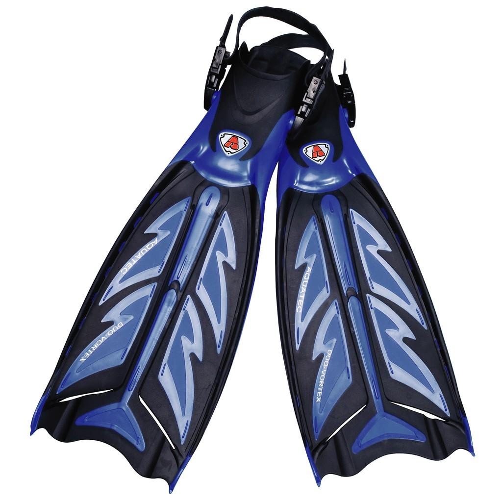 AQUATEC 潛水省力蛙鞋 FN-600 (藍黑色)