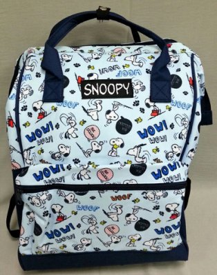 史努比 SNOOPY 正版 WOW 大口後背包 可放A4 雙肩包