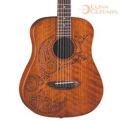 美國 LUNA 刺青 全桃花心木 36吋旅行吉他 SAF TAT
