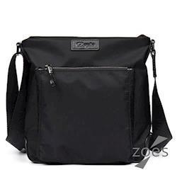 【Zoes】頂級防潑水牛津布 潮流設計豎版斜背包