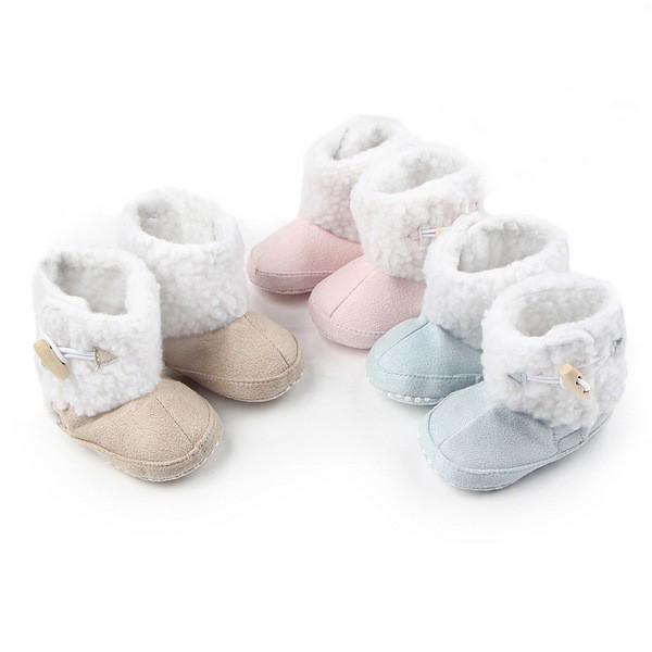3色秋冬寶寶雪靴 保暖防滑嬰兒學步鞋(11-13cm) MIY0082 好娃娃