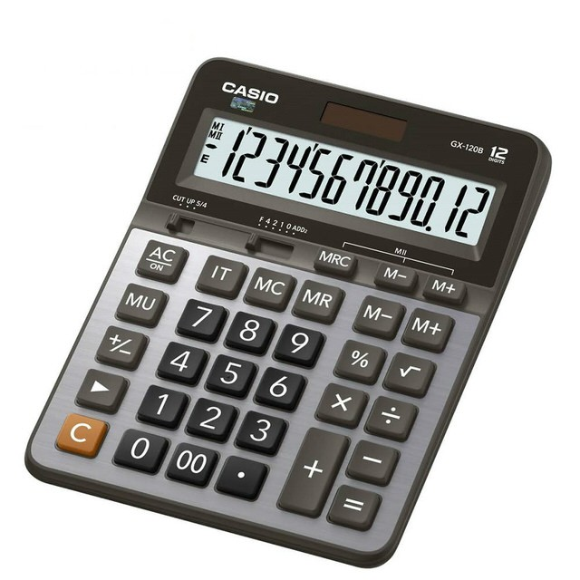 【CASIO卡西歐】12位數商用型計算機/GX-120B