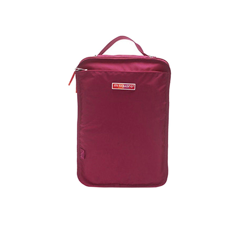 m square - 商旅系列Ⅱ-便攜鞋靴包M-紫紅
