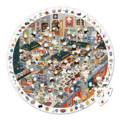 【法國 Janod】找一找圓形拼圖-餐廳廚房篇208pcs
