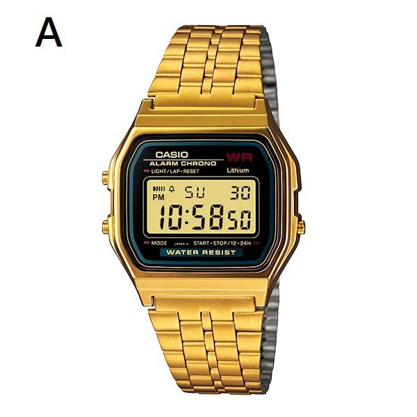 【CASIO】CASIO 卡西歐 方形 復古電子錶 方形金錶 生活防水 宏崑時計 台灣卡西歐保固一年