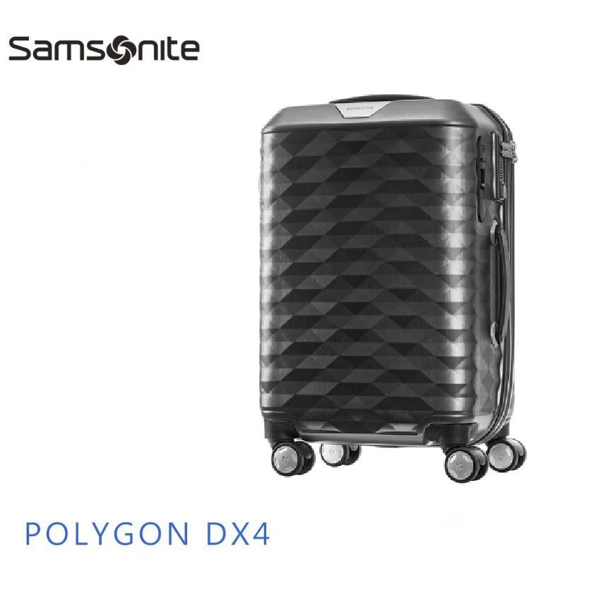 Samsonite 新秀麗 POLYGON DX4 20吋登機箱 顛覆傳統硬箱8:2比例 日本Hinomoto煞車飛機輪