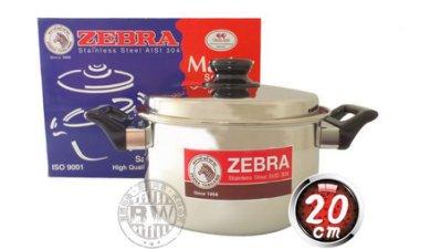 2059生活居家館_ZEBRA斑馬牌雙耳湯鍋20cm/2.4L 正304高級不鏽鋼牛奶鍋 火鍋 萬用調理鍋 燉鍋 滷鍋