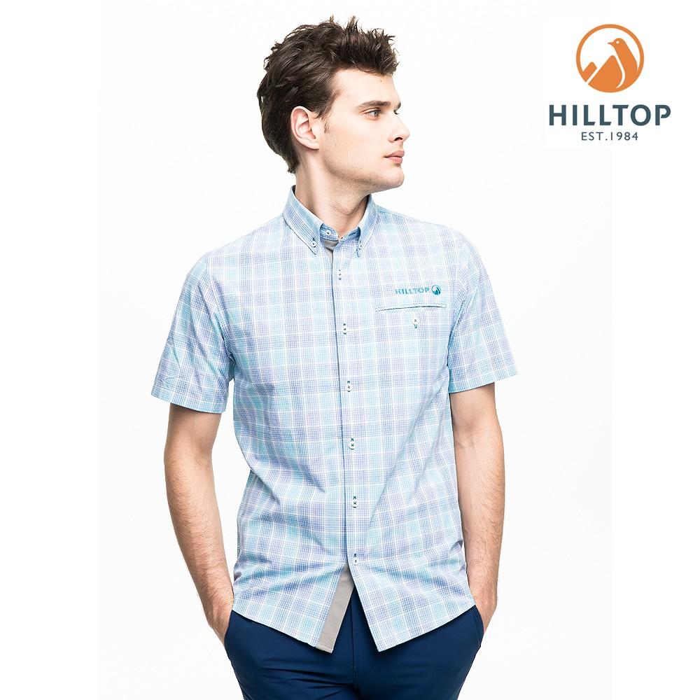 hilltop山頂鳥 男款吸濕快乾抗UV短袖襯衫 S06M66